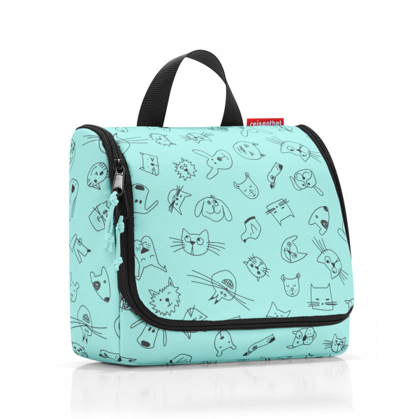 toiletbag kids cats and dogs mint