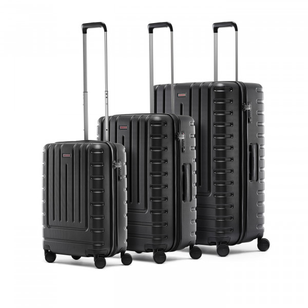 suitcase set iconic shell black