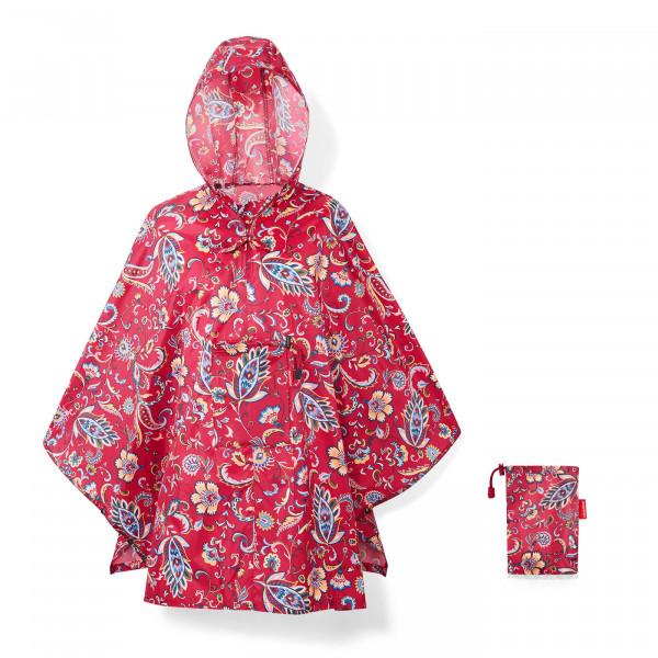 mini maxi poncho paisley ruby