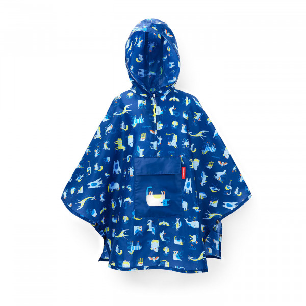 mini maxi poncho M kids abc friends blue