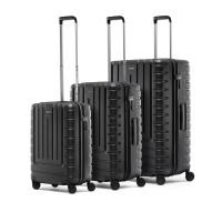suitcase set iconic shell black
