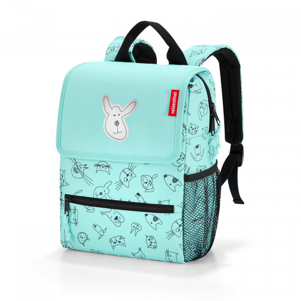 backpack kids cats and dogs mint
