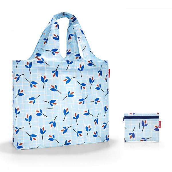 mini maxi beachbag leaves blue