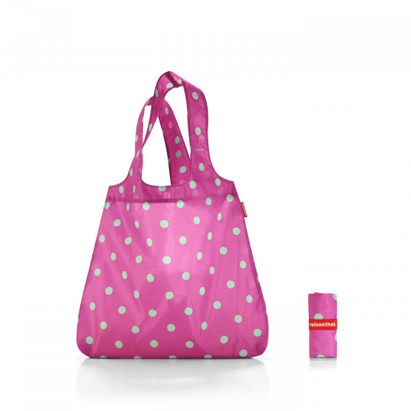mini maxi shopper magenta dots