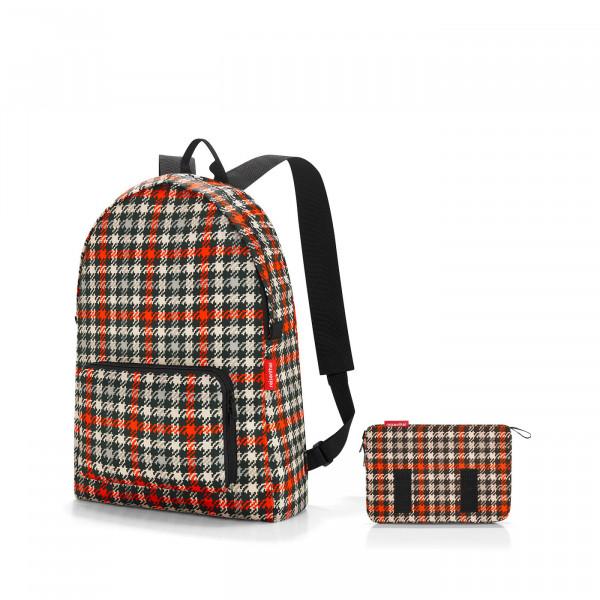 mini maxi rucksack glencheck red