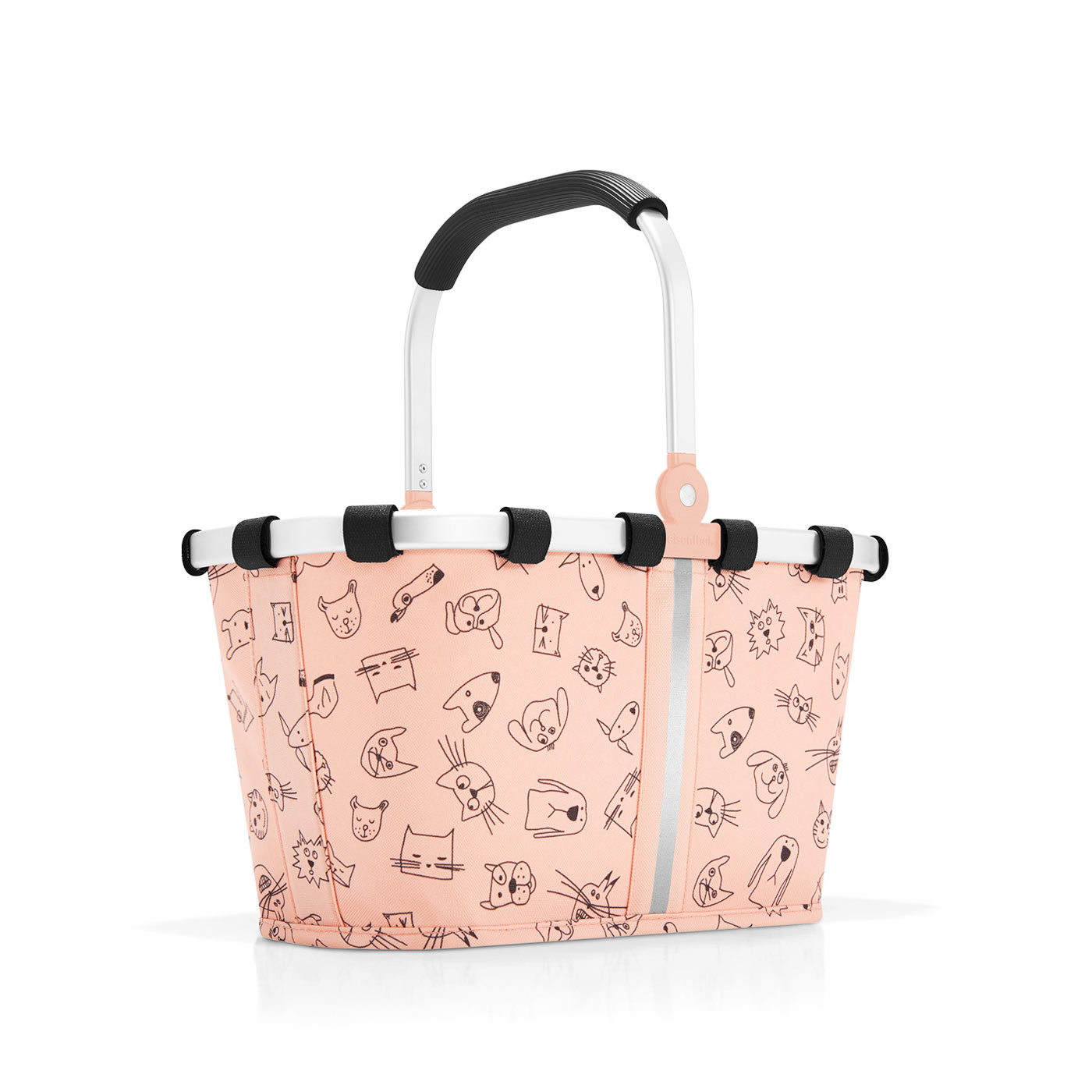 reisenthel carrybag XS kids Kinderkorb Korb cats and dogs rose rosa IA3064