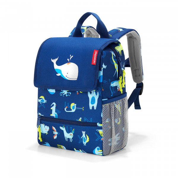 backpack kids abc friends blue