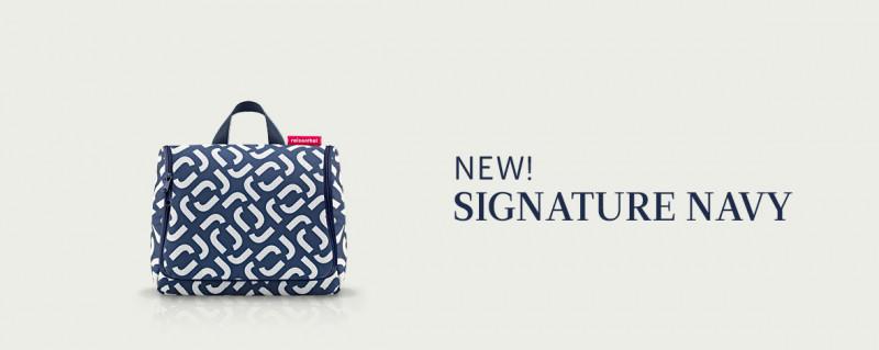signature navy Dekor